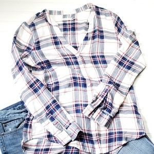 Kenneth Cole Reaction Plaid Shirt S